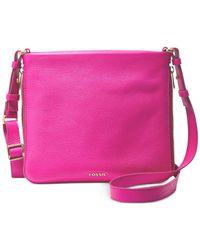 Fossil | Pink Preston Leather Crossbody | Lyst