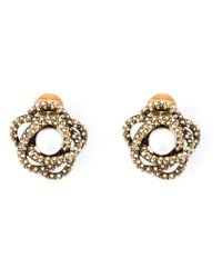 Oscar de la Renta | Metallic Navette Crystal Drop Clip Earrings | Lyst