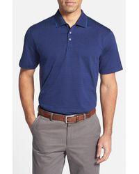 Cutter & Buck - Blue 'bryce' Dot Jacquard Polo for Men - Lyst