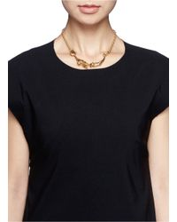 Alexander McQueen - Metallic Crystal Embellished Skeleton Necklace - Lyst