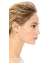 Noir Jewelry - Metallic Aries Earrings - Gold/Clear - Lyst