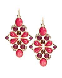 Catherine Stein | Pink Beaded Cluster Drop Earrings | Lyst