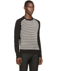 DIESEL - Black & White K-simmons Sweater for Men - Lyst