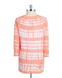 Calvin Klein | Orange Tie-dye Top | Lyst