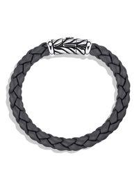 David Yurman - Metallic Chevron Bracelet In Gray for Men - Lyst