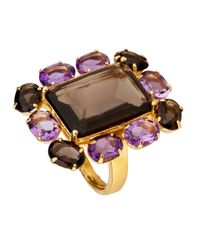 Bounkit | Purple Faceted Amethyst Ring | Lyst