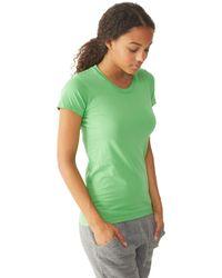 Alternative Apparel - Green Destroyed Womens T-shirt - Lyst