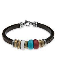 Platadepalo | Multicolor Classic Leather Bracelet Bronze & Resin | Lyst