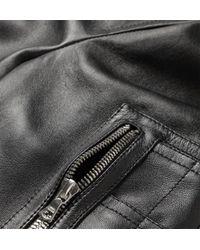 Neil Barrett   Black Leather Bomber Jacket for Men   Lyst