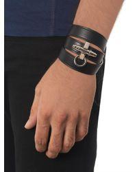 Givenchy - Black Triplewrap Leather Obsedia Cuff for Men - Lyst