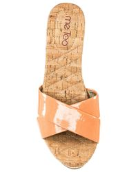 Me Too | Orange Nila Wedge Sandals | Lyst