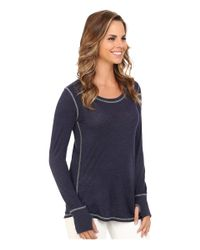 Allen Allen | Blue Long Sleeve Thumbhole Tee | Lyst