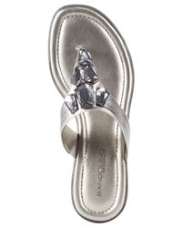 Bandolino - Metallic Jesane Embellished Thong Sandals - Lyst