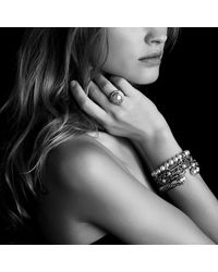 David Yurman | Metallic Crossover Pearl Bracelet | Lyst
