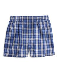 Brooks Brothers | Blue Slim Fit Blanket Plaid Boxers for Men | Lyst