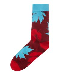 Björn Borg | Red Leaf Me Alone Ankle Sock for Men | Lyst