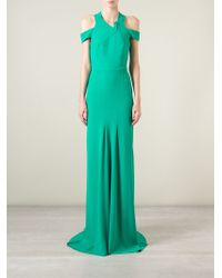 Roland Mouret | Green 'Barkby' Evening Gown | Lyst