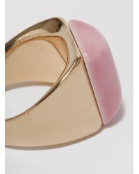 Helena Rohner - Square Porcelain Signet Ring Gold & Azalea Pink - Lyst