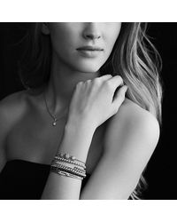 David Yurman | Metallic Petite Pavé Id Bracelet With Diamonds In 18k Gold | Lyst
