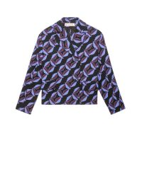 Marni | Multicolor Jacket In Double Face Crepe Arvum Print | Lyst