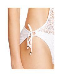 Polo Ralph Lauren - White Crocheted Halter Monokini - Lyst