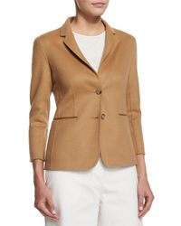 The Row - Brown Wool Two-button Schoolboy Jacket - Lyst