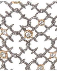 Alexis Bittar | Metallic Silver Crystal Studded Spur Lace Cuff Bracelet | Lyst