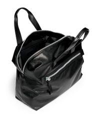 Lanvin - Black Leather Bowling Bag for Men - Lyst
