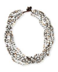 Eskandar | Blue Tear Of Virgin Mary Six-strand Necklace | Lyst