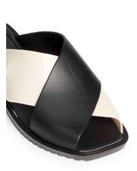 Melissa - Black 'sauce' Colourblock Pvc Slide Sandals - Lyst