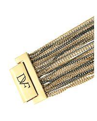 Diane von Furstenberg - Metallic Hematite Multi-strand Fine-chain Bracelet - Lyst