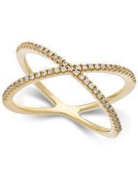 Arabella   Metallic Swarovski Zirconia X-Ring In 14K Gold   Lyst