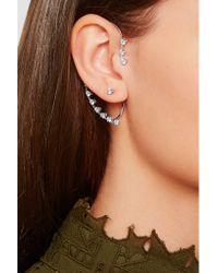 Delfina Delettrez - Metallic 18-karat White Gold Diamond Ear Cuff - Lyst