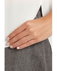 Ileana Makri | Metallic Thread 18-Karat White Gold Diamond Eternity Ring | Lyst