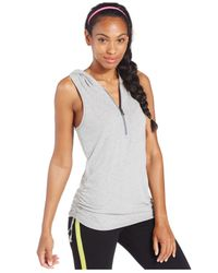 Under Armour | Gray Perfect Sleeveless Hoodie | Lyst