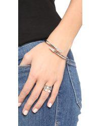 Rebecca Minkoff - Metallic Double Pave Arrow Hinge Bracelet - Lyst