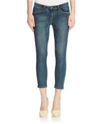 Sl8 | Blue Skinny Capri Jeans | Lyst