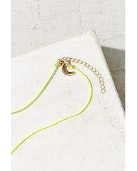 Urban Outfitters - Yellow Konsidine Charm Necklace - Lyst