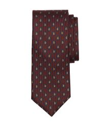 Brooks Brothers - Red Pine Tree Print Tie for Men - Lyst
