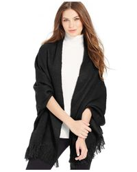 Steve Madden | Black Solid Brush Boucle Blanket Wrap | Lyst