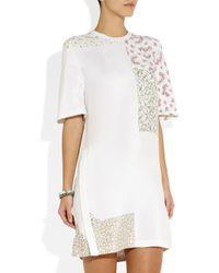 3.1 Phillip Lim | White Printed Silk Crepe De Chine Tshirt Dress | Lyst