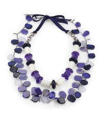 Weekend by Maxmara | Blue Faceted Stones Necklace | Lyst