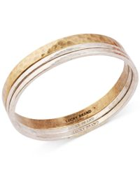 Lucky Brand | Metallic Two-Tone Modern Metals Bangle Bracelet | Lyst