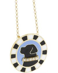 Holly Dyment | Metallic Labrador 18-Karat Gold, Enamel And Diamond Necklace | Lyst