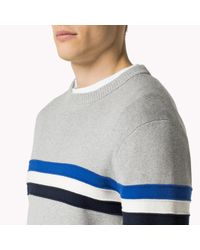 Tommy Hilfiger   Multicolor Wool Cotton Blend Crew Neck Sweater for Men   Lyst