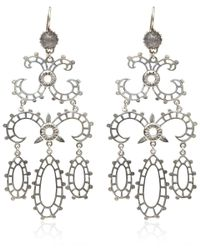 Laurent Gandini | Metallic Silver Labradorite Chandelier Earrings | Lyst