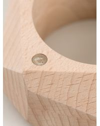 The Medley Institute | Natural Oversized Wooden Bracelet | Lyst