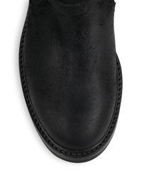 Ralph Lauren Collection Black Maxine Double Buckle Suede Boots for men