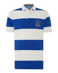 Howick | Blue California Block Stripe Short Sleeve Rugby for Men | Lyst