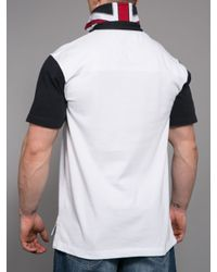 Raging Bull - White Union Jack Embellished Rugby Shirt for Men - Lyst